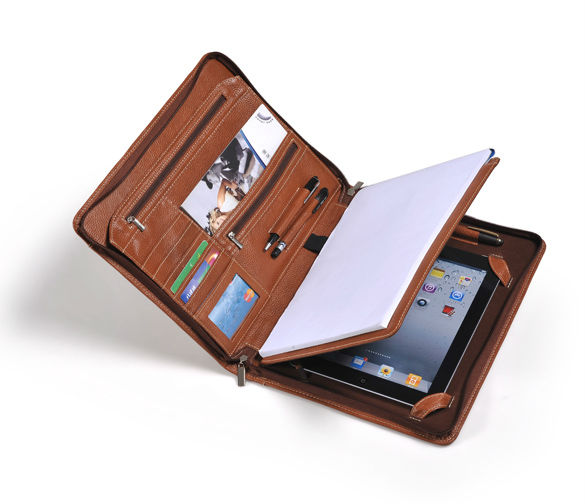 Letter-Size Portfolio With Detachable iPad Holder and Multiangle Viewing