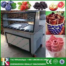 Double Pan Thailand Roll Fried Ice Cream Machine / Ice Cream Cold Plate / Fry Ice Cream Machine