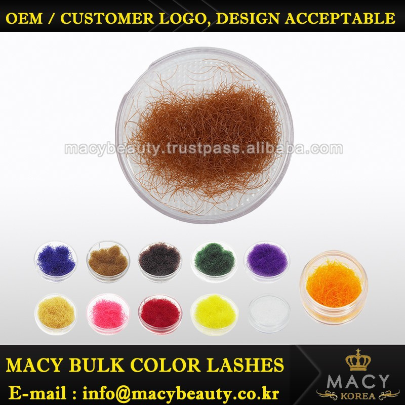 Colorful eyelash extension MINK makeup products eyelash
