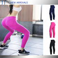 New arrival High quality solid color women dry fit runing tights with sexy mesh