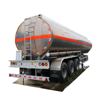 Carbon steel 3 axle LPG tanker trailer with air suspension and 5 compartments euro manholes Oil tank semi hanger for sale