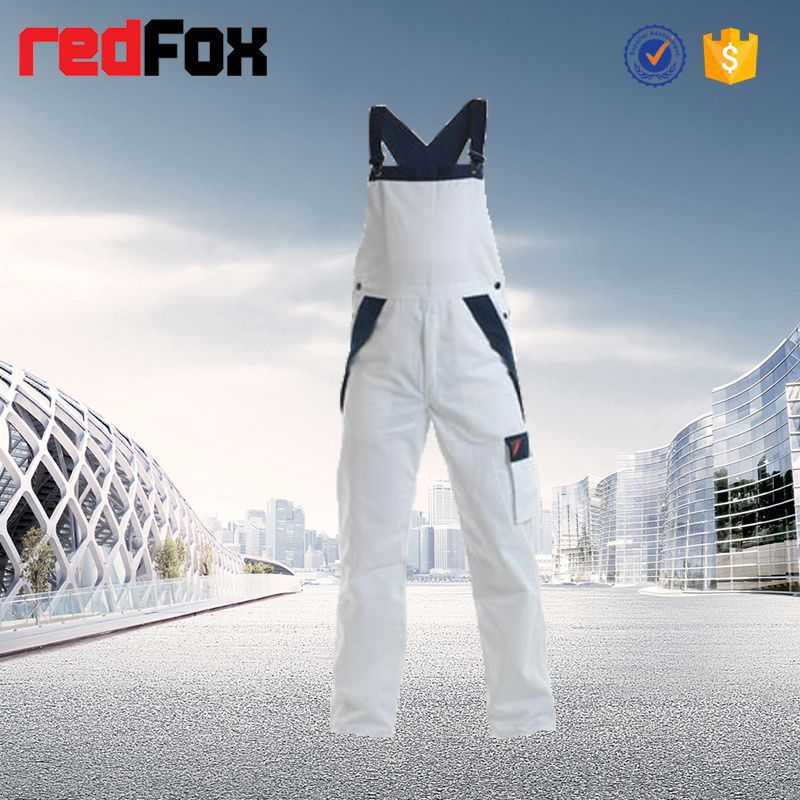 Hi Vis cheap white fashion workwear overalls for men