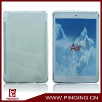 soft TPU clear case for ipad air, for ipad 5 cover case