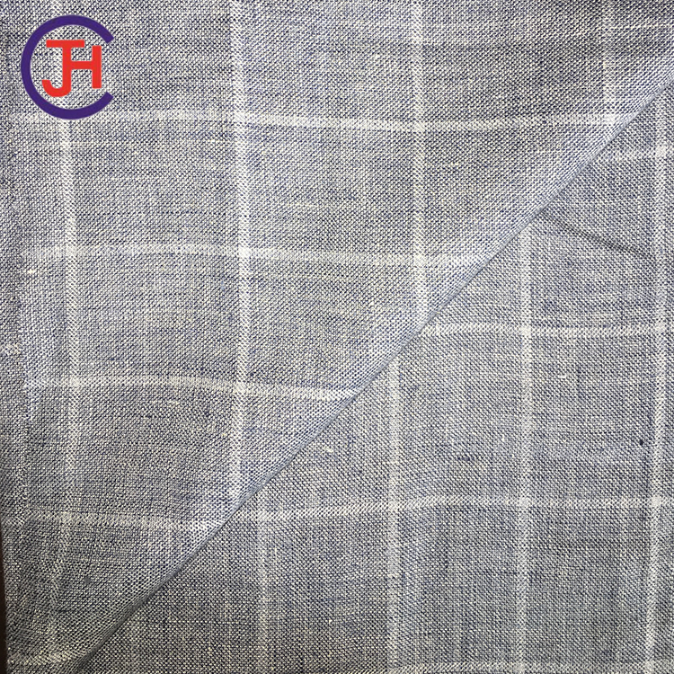 Trade Assurance best sellingl inen yarn dyed fabrics of CE and ISO9001 standard