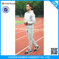 Winter Brand Fleece Mens Tracksuit With Embroidery Logo Brand