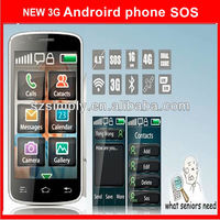dual sim cheap android 3g smart phones GPS WIFI. SOS