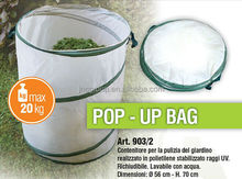 White color foldable pop up garden bags