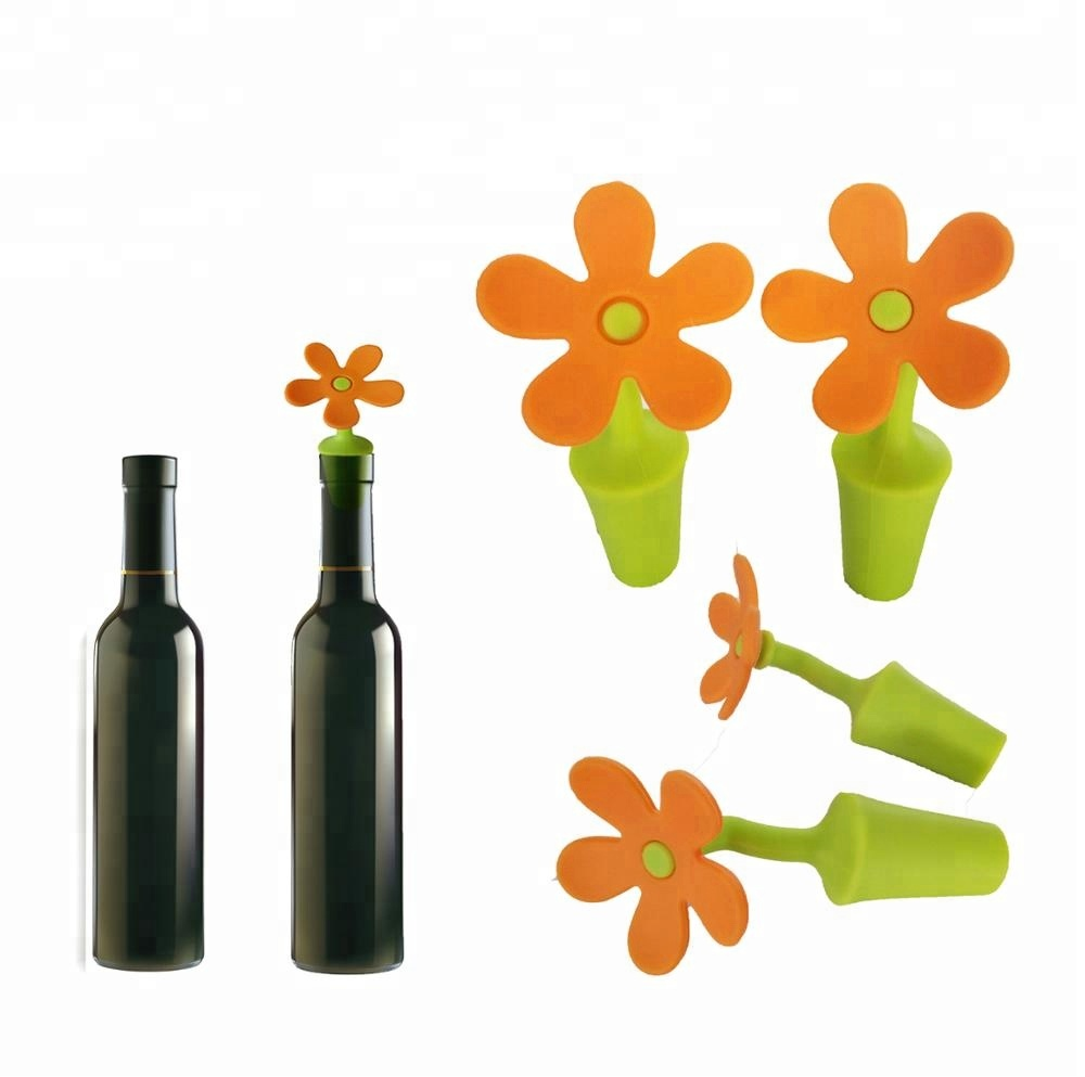 Bar Accessories Silicone Decorative Bottle Stopper <strong>Wine</strong>/Beer/Champagne bottle/Beverage Stopper Retain Freshness Wholesale