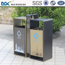 wholesale trash bin with wheels ,park wooden waste bin ,indoor houses container