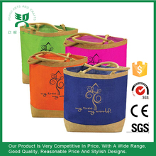 Eco-Friendly Two Tone Jute Beach Tote Bag