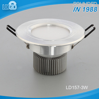 China factory competitive price recessed led light down light 3w SMD 5730 chip led downlight dimmable