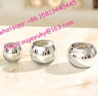 Bling glass ball flower vase silver plated glass vase for flower arrangement