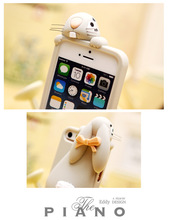 rabbit silicone soft skin cover case for iphone 4 4s 5 5s