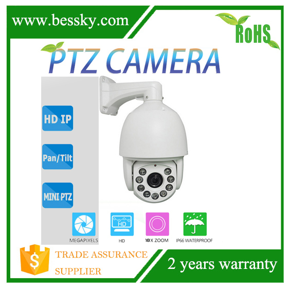 New design CMOS 1.3mp 9pcs lens 6inch Outdoor IP PTZ Camera P2P Outdoor autotracking Control speed 180Deg/sec ptz camera