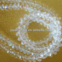 Newest arrivel clear jewelry crystal beads/ loose crystal beads