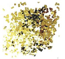 2017103005 Faithidmarket Premium Shredded Squares Party Table gold metallic Confetti - 50 Grams (Gold Mylar Flakes)