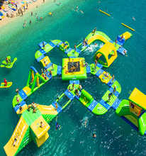 New design giant inflatable water park inflatable floating water park inflatable obstacle course