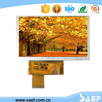 5.0 inch landscape display screen 800*480 dots with RGB interface ,40PINs TFT LCD module(White LED Backlight)