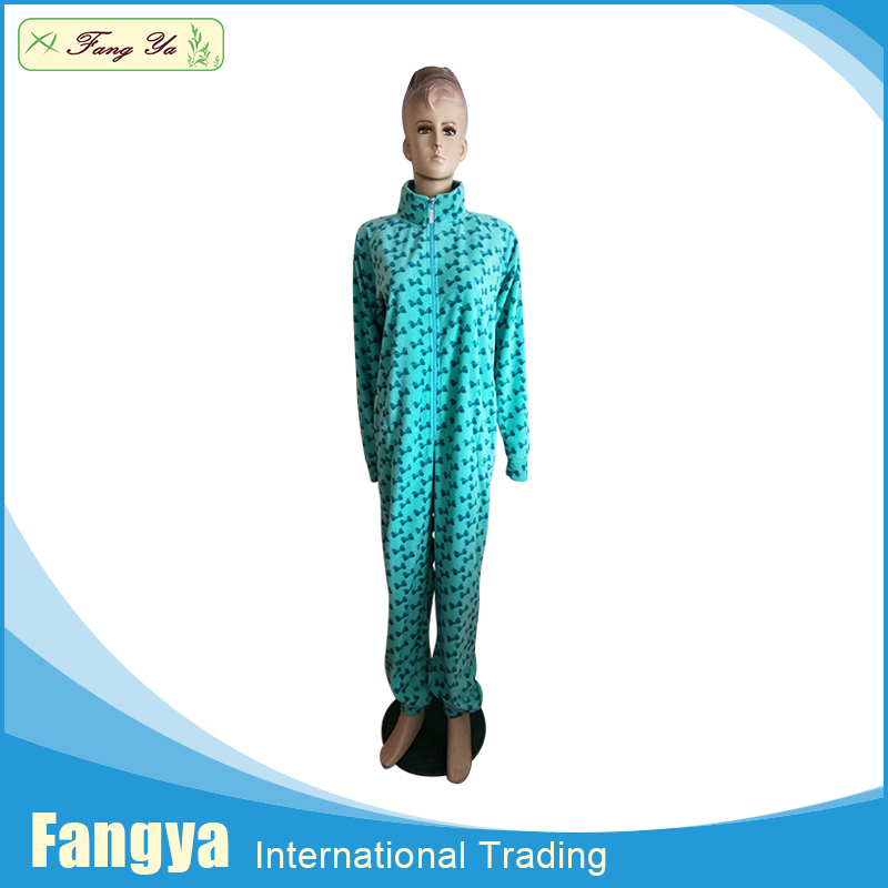 Fully Stocked wholesale winter polar fleece footed adult onesie