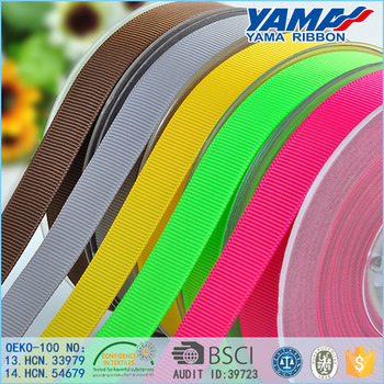 High tenacity 3 inch wide 100% polyester wholesale grosgrain ribbon