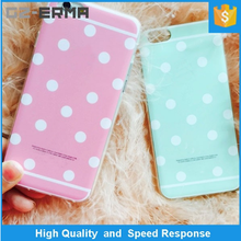 Soft Flexible TPU with Polka Dots Skin Protective Cover Case for Apple for iPhone 6