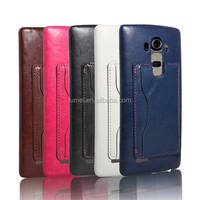 High Quality PU Leather Stand Back Case For LG G3 With Card Slot