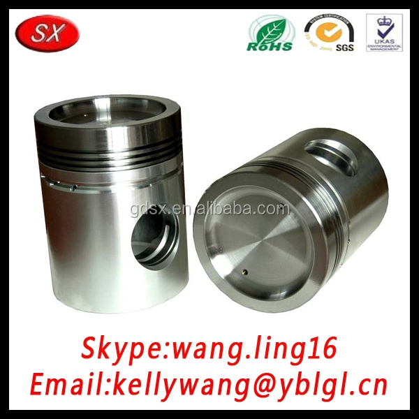 China factory custom high precision aluminum engine piston, 82mm engine piston engine spare parts pass ISO/TS16949 standard