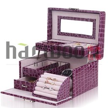 Fancy Cosmetic packing case,Leather Jewelry Box