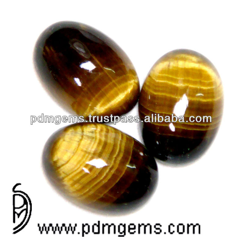 Tiger Eye, Tiger Eye Gemstone Oval Cab Cabochon For Finger Rings