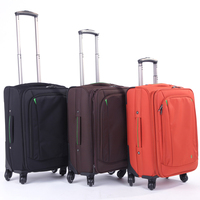 Soft Nylon travel trolley luggage bags case wholesale