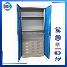 Customized 225 degree open the steel filing cabinet with drawers in side