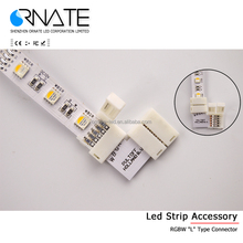 LED strip Free Solder connector 10mm 8mm 2 pin 4 pin For 5050 5630 5730 3528 Single Color RGB Led Strip