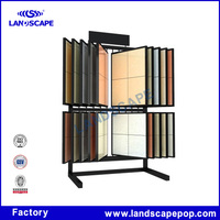 Customized strong structure metal ceramic tile display stand/flooring metal display shelf for tile with good design