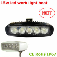 12v 15w miniled work light Hot accessories for car forklift offroad machine led work lihgt boat