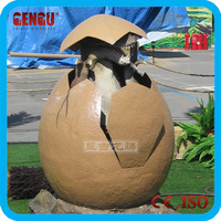 Outdoor Playground Artificial Fiberglass Dinosaur Egg Toys