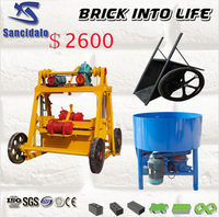 QT40-3B split face block machine, machine building block, machine brick and block sancidalo brick machine