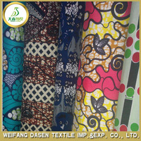 african ankara 6 yard wax printed 100% cotton fabric hot sale