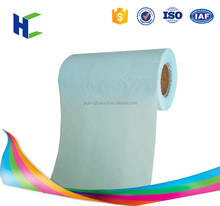 Sky blue Laser pouch PE film for sanitary napkin production