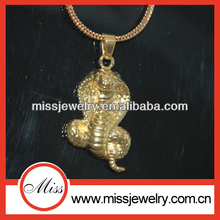 high end gold iced out fashion hip hop cobra snake jewelry wholesale
