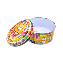 High quality hot sale custom round cookie tin factory from China