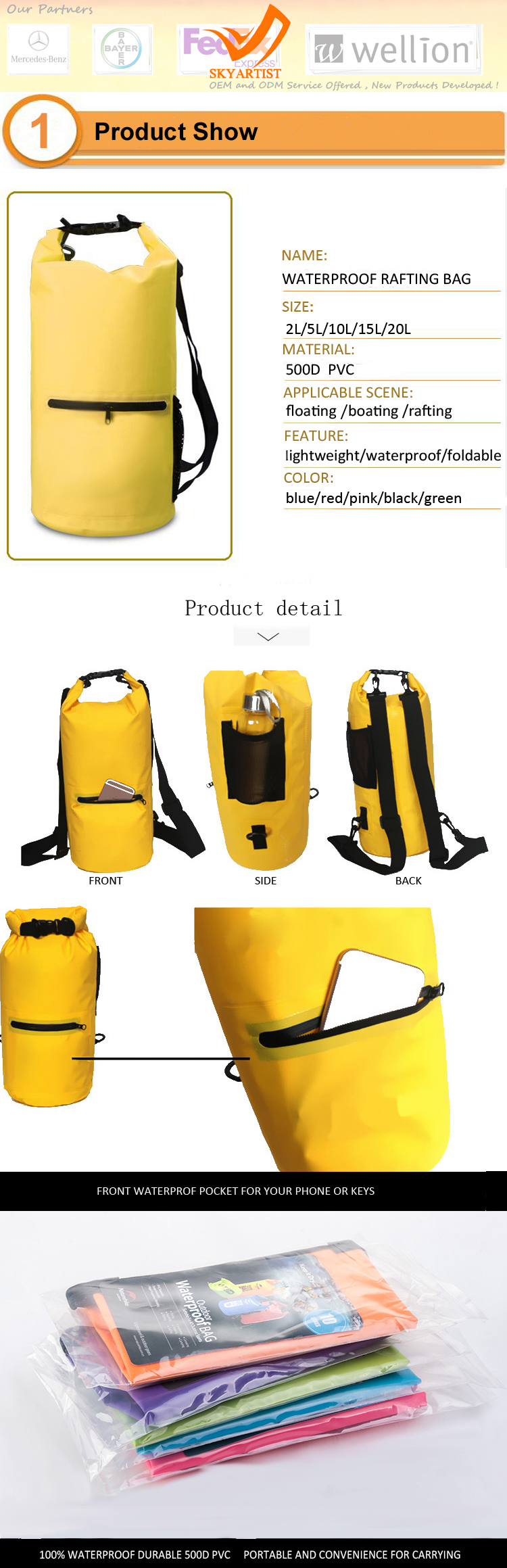 Ultralight Waterproof Foldable Dry Bag Floating Bag