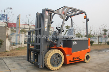 AC motor 3.5 ton electric forklift with solid tyre