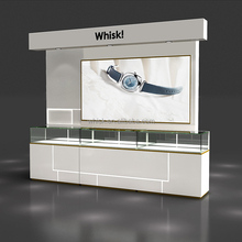 retail shop mental and wood watch display stand counter