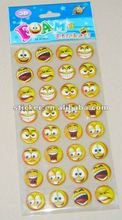 Custom lovely expressiveness foam face puffy stickers