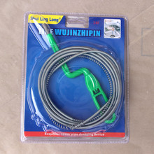 wholesale 3m eco-friendly spring metal wire snake drain cleaner for clean the sewer pipe