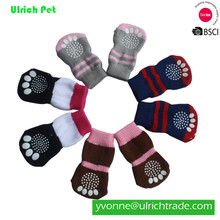 Ulrich customized cotton knitted pet shoe socks for dogs cats