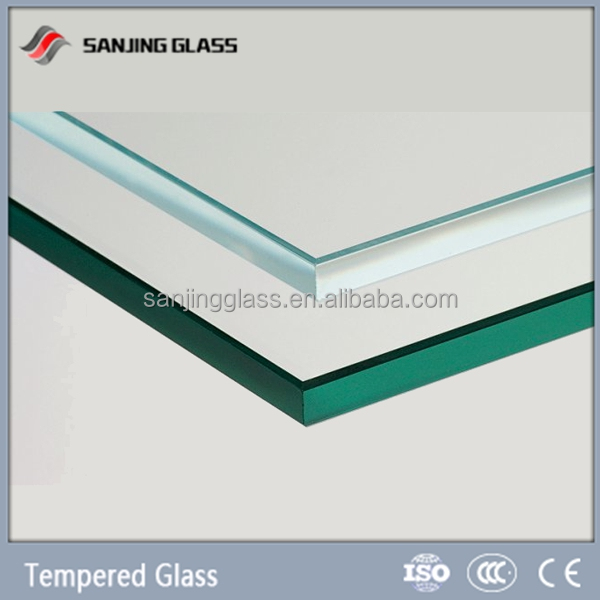 Tempered glass for double glass solar panel