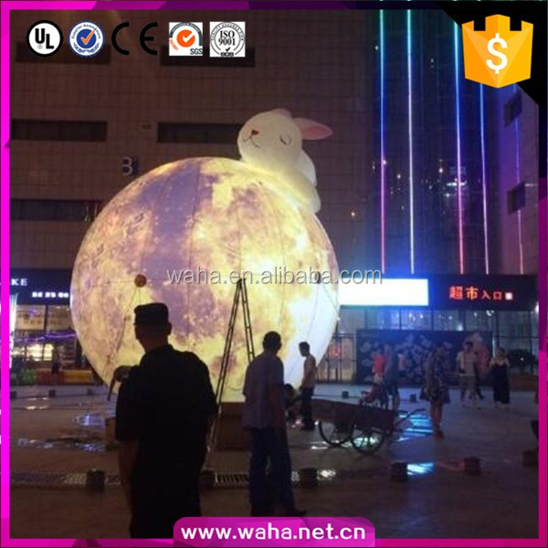 creative inflatable planet balls/lighting balls/shopping mall promotion