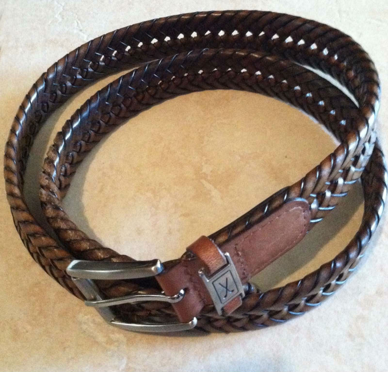 Women chastity belt Grain kz fashions leather belt with Golf Clubs on the Clasp