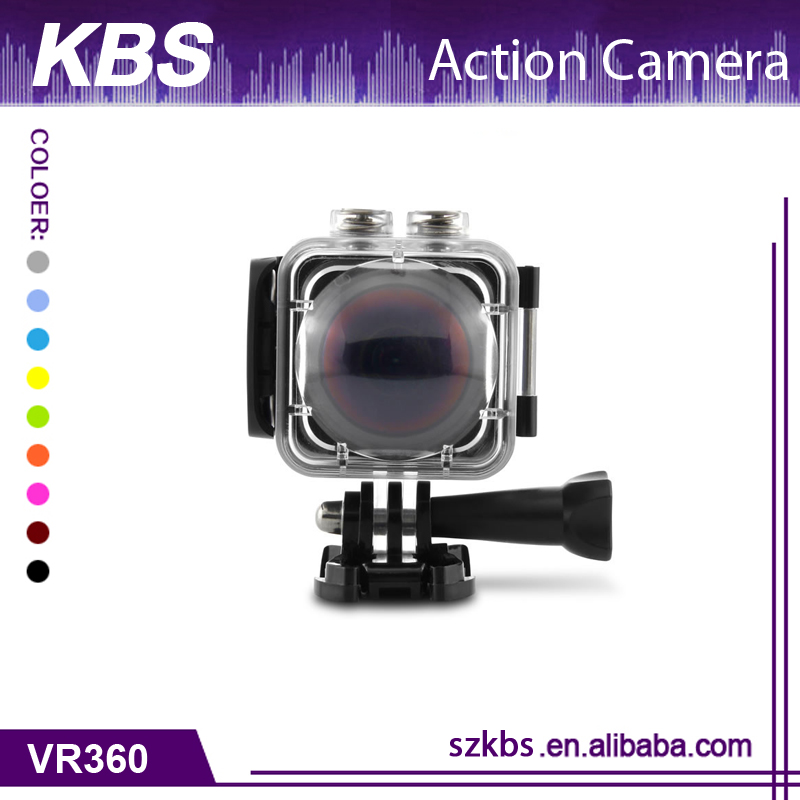 2017 4K Action 360 Degree Sport DV Camera Degree all Viewing Waterproof Cube 360H VR Sport Camera